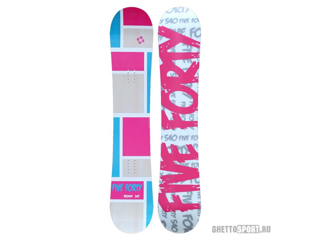 Сноуборд FiveForty Remix 147 Grey/Pink/Blue