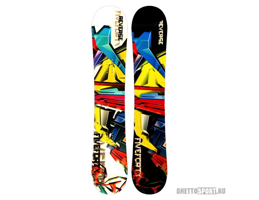 Сноуборд FiveForty Reverse 154 Yellow/White/Multi