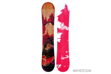 Сноуборд Sims Protocol 161 Black/Red/Woody