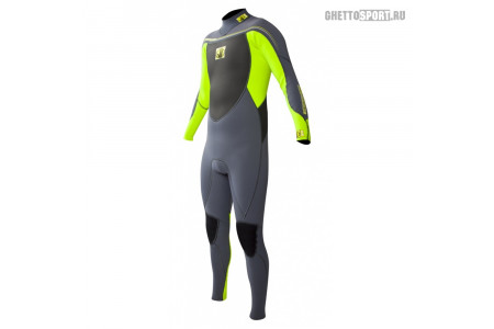 Гидрокостюм Body Glove 2015 Method 2.0 Bk/Zip Fullsuit 3x2 Green M