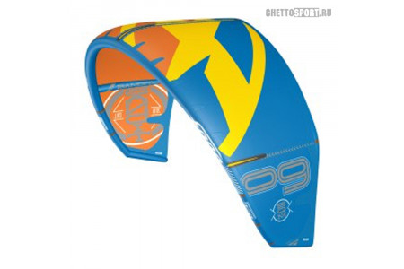 Кайт F-ONE 2016 Bandit 9 Kitesurfing Kite Blue/Yellow 9