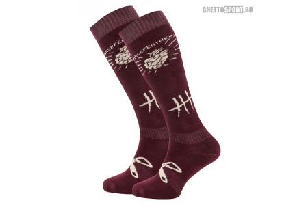 Носки Horsefeathers 2019 Beerology Socks Burgundy M