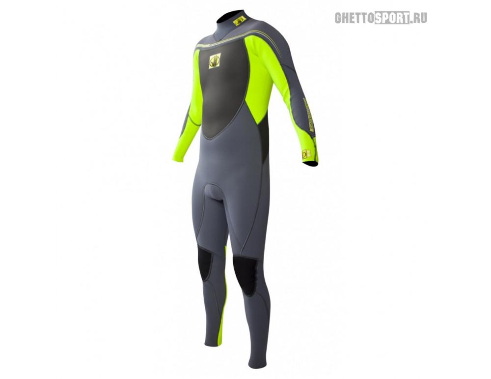 Гидрокостюм Body Glove 2015 Method 2.0 Bk/Zip Fullsuit 3x2 Green M