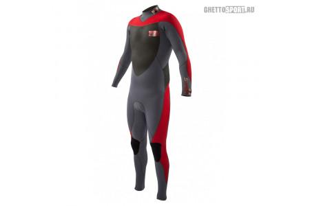 Гидрокостюм Body Glove 2015 Siroko Bk/Zip Fullsuit 4x3 Red
