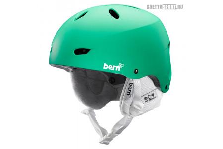 Шлем Bern 2015 Brighton Matte Green W/White Liner L