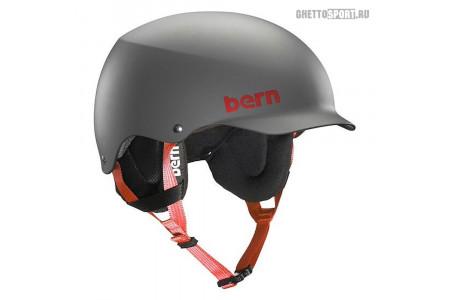 Шлем Bern 2015 Team Baker Matte Grey W/Cordova Earflaps