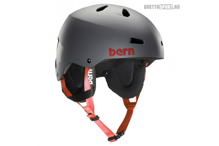 Шлем Bern 2015 Team Macon Matte Grey W/Cordova Earflaps