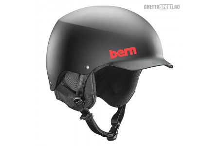 Шлем Bern 2018 Team Baker (Team Fit) Non-Adjustable Matte Black/Black Liner M