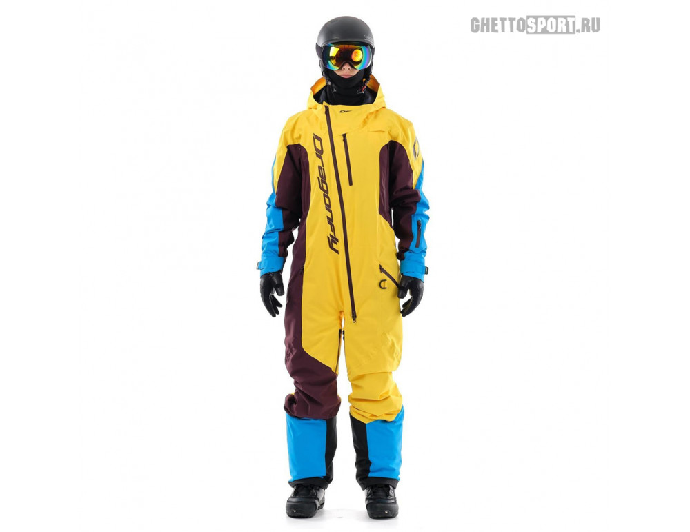 Комбинезон Dragon Fly 2020 Ski Premium Man Yellow/Brown
