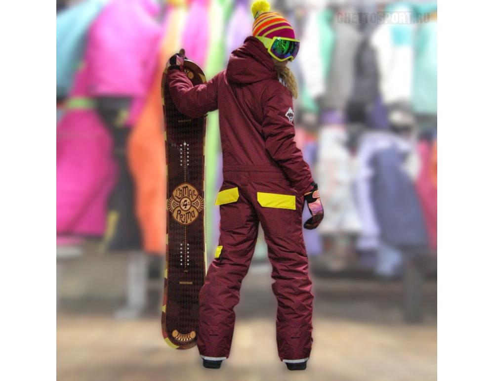 Комбинезон Nix-Ter 2017 Bearskin Bordo/Yellow S