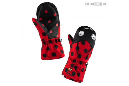 Варежки Luckyboo 2020 Small Fingers Red S