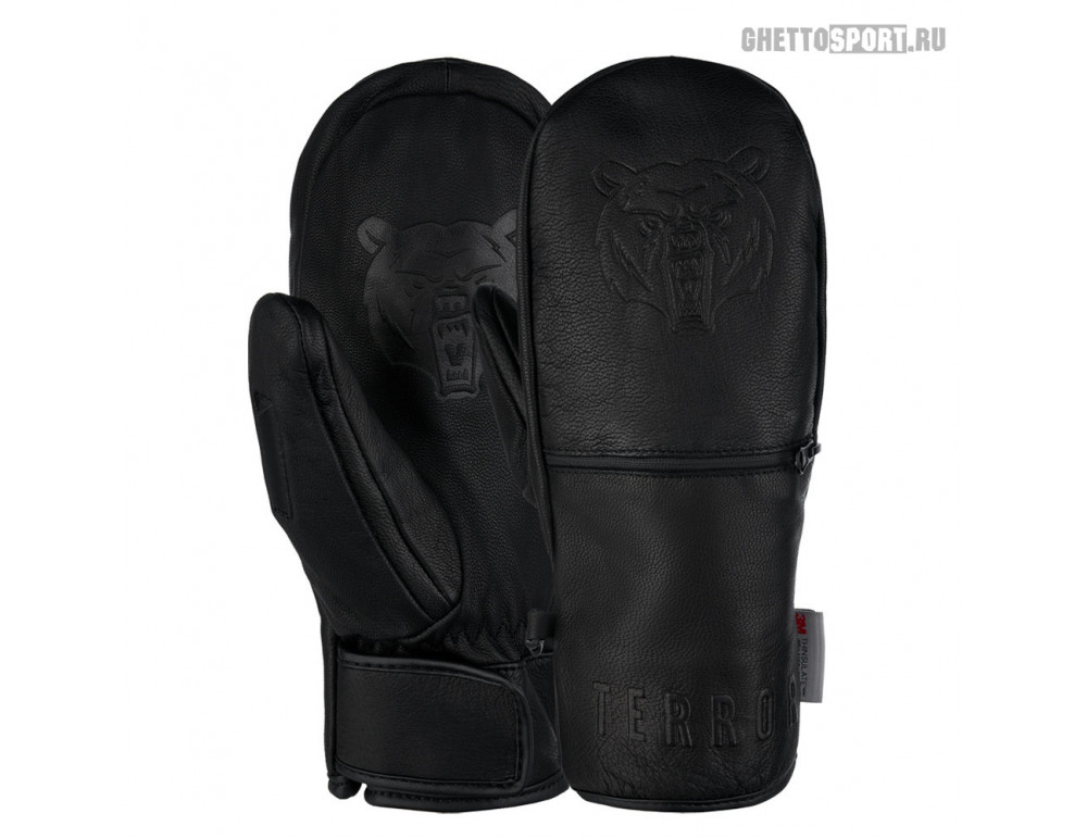 Варежки Terror Snow 2021 Leather Mitten Black