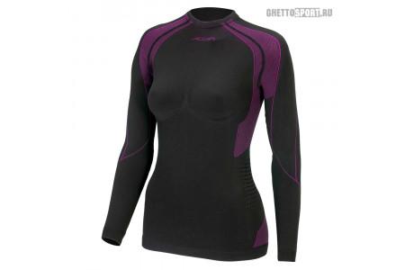 Термобелье Accapi 2020 Polar Bear Seamless Long Sl. T-Shirt Lady Black/Cyclamen