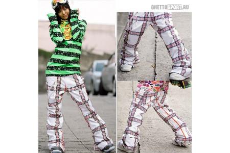 Штаны STL 2010 Shock Snowboard Pants (Loose Fit) White XL