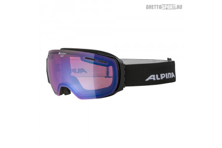 Маска Alpina 2020 Granby Black Matt Qhm Blue Sph. S2 (M50)