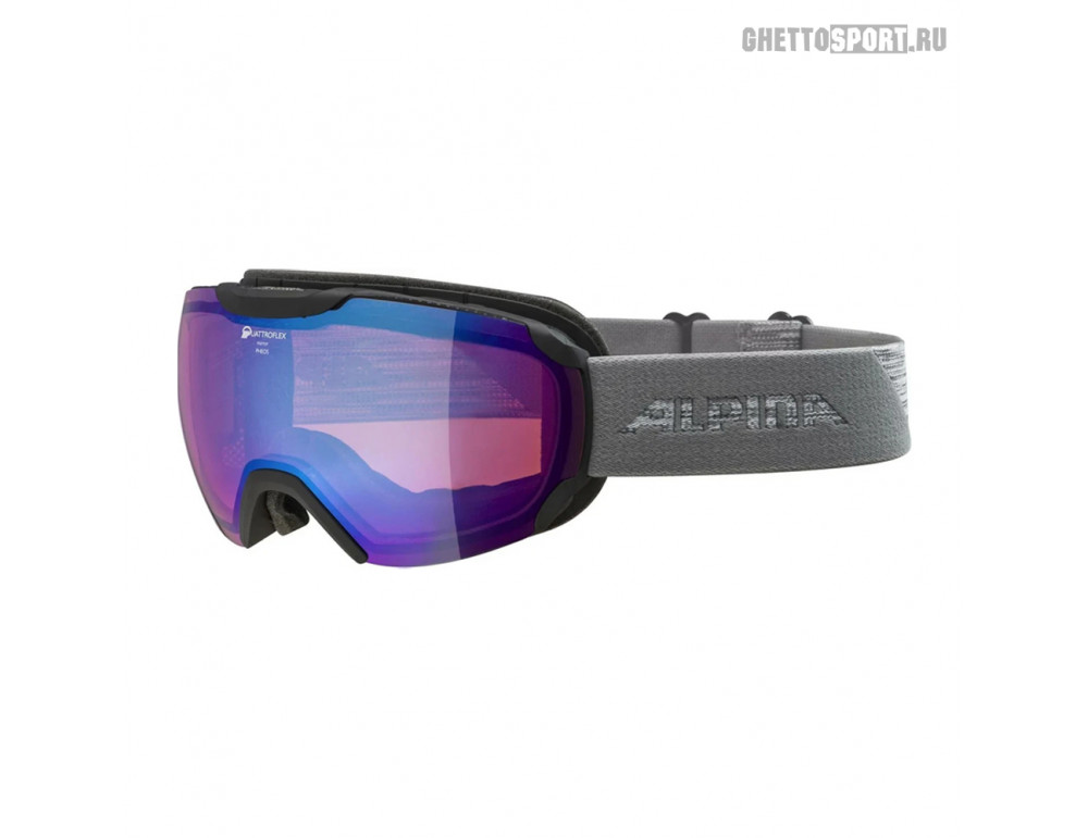 Маска Alpina 2020 Pheos Black/Grey Qhm Blue Sph. S2 (L50)