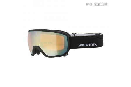 Маска Alpina 2020 Scarabeo Black Matt Hm Gold Sph. S2 (L50)