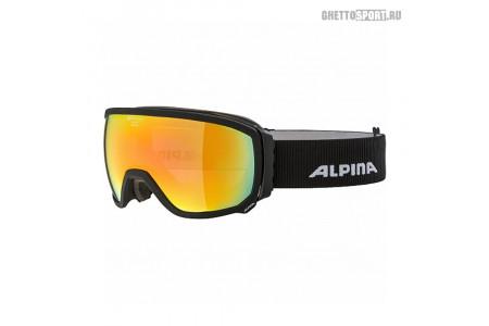 Маска Alpina 2020 Scarabeo Black Matt Qhm Red Sph. S2 (L50)