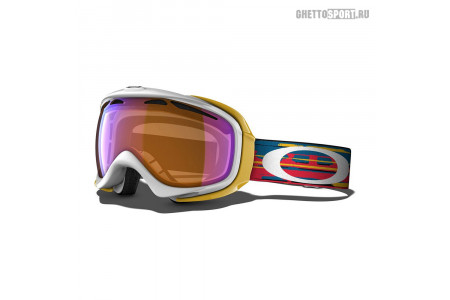 Маска Oakley 2015 Elevate Ripped N Torn White Orange H.I. Persimmon