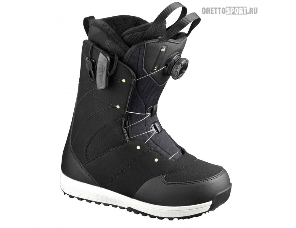 Ботинки Salomon 2020 Ivy Boa SJ Black/Pale Lime