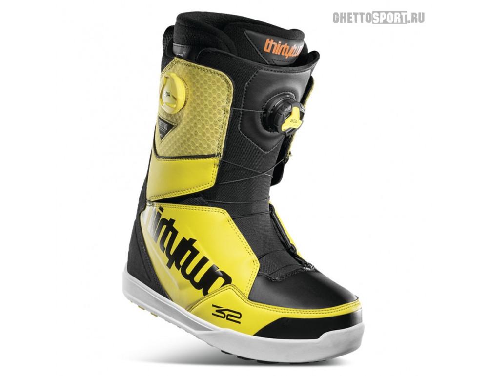 Ботинки Thirty Two 2021 Lashed Double Boa Black/Yellow