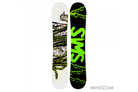Сноуборд Sims 2016 Electroshok White/Black/Green 154