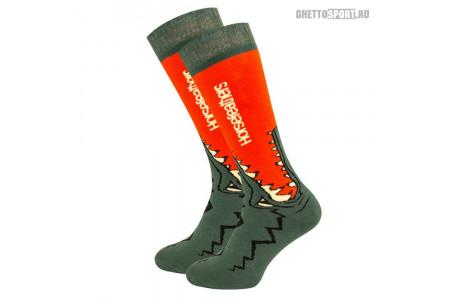 Носки Horsefeathers 2020 Croc Socks Red Orange