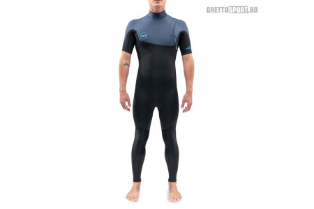 Гидрокостюм Dakine 2021 Mission Zip Free Short Sleeve Full Suit 2x2 Black/Blue