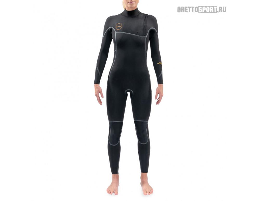 Гидрокостюм Dakine 2021 Women's Cyclone Zip Free Full Suit 4x3 Black