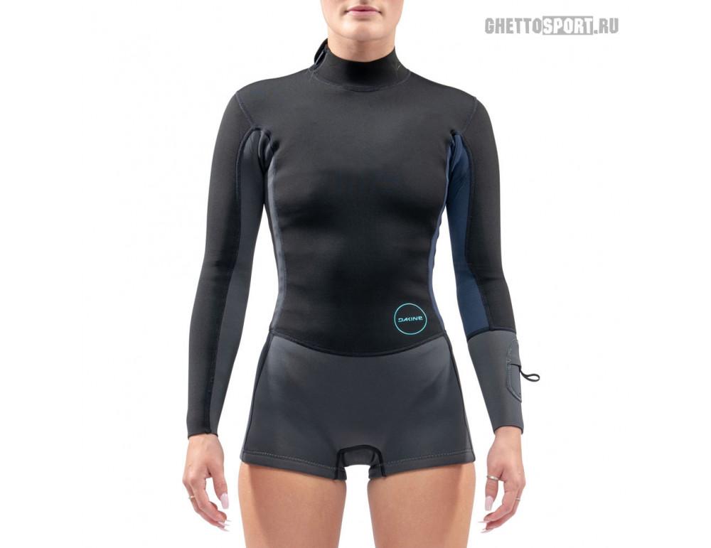Гидрокостюм Dakine 2021 Women's Mission Long Sleeved Spring Suit 2 Black/Blue