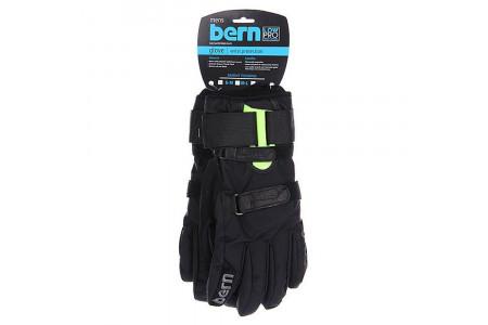 Перчатки с защитой Bern 2022 Men's Leather Gloves w/ Removable Wristguard Black