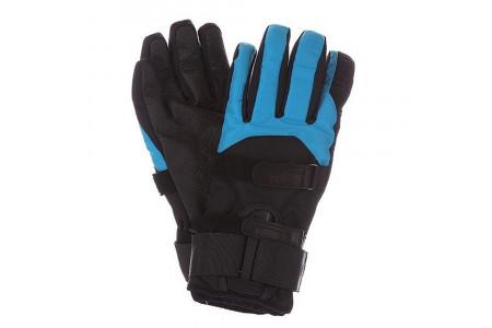 Перчатки с защитой Bern 2022 Men's Synthetic Gloves w/ Removeable Wrist Guard Black/Cyan