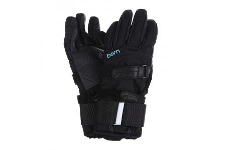 Перчатки с защитой Bern 2022 Women's Synthetic Gloves w/ Removable Wristguard Black