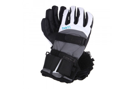 Перчатки с защитой Bern 2022 Women's Synthetic Gloves w/ Removeable Wrist Guard White/Grey